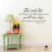 Matthew 6:33 - Wall Decals