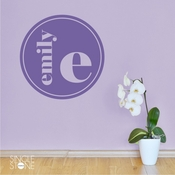 Modern Circle Monogram - Wall Decals