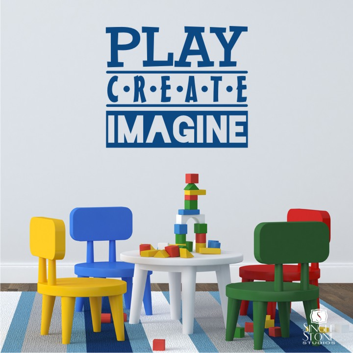 play create imagine wall decals wall decals wall create wall decals amp wall stickers zazzle