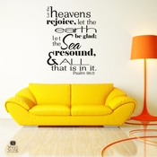Psalm 96:11 Heavens Rejoice - Wall Decals