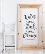 What You Think You Become Buddha - Wall Decals