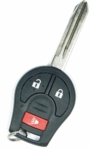 2013 Nissan Rogue Keyless Entry Remote Key - 3 button