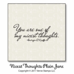 Nicest Thoughts Plain Jane