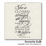 Proverbs 31:25 Plain Jane