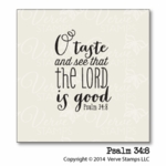 Psalm 34:8 Plain Jane