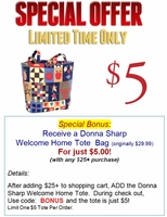 Welcome Home Tote Bag by Donna Sharp
