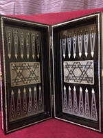 Elegant Egyptian Wooden Backgammon Board comes with everything Great sale