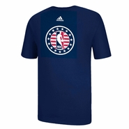 adidas NBA Logoman Veteran's Day Short Sleeve Tee - Navy