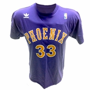 Phoenix Suns Adams Name # Tee-Purple