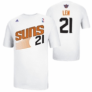Phoenix Suns adidas Alex Len #21 Game Time Name & Number Tee - White
