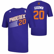 Phoenix Suns adidas Archie Goodwin #20 Game Time Name & Number Tee - Purple