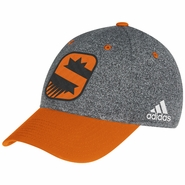 Phoenix Suns adidas Authentic Team Flex Cap - Charcoal/Orange