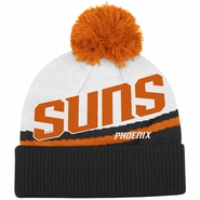 Phoenix Suns adidas Cuffed Knit Beanie with Pom - White/Black
