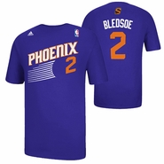 Phoenix Suns adidas Eric Bledsoe #2 Game Time Name & Number Tee - Purple