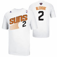 Phoenix Suns adidas Eric Bledsoe #2 Game Time Name & Number Tee - White