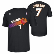 Phoenix Suns adidas Gametime Kevin Johnson #7 Throwback Retro Tee - Black