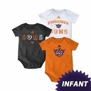 Phoenix Suns adidas Infant 3-Pack Creeper Set