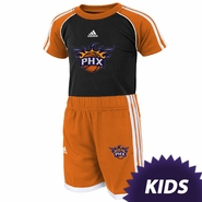 Phoenix Suns adidas Kids Tee and Short Set - Black/Orange