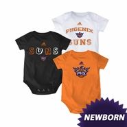 Phoenix Suns adidas Newborn 3-Pack Creeper Set