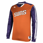 Phoenix Suns adidas On-Court Long Sleeve Shooting Shirt - Orange