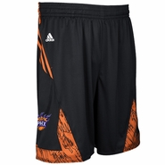 Phoenix Suns adidas On-Court Pre-Game Shorts - Black/Orange