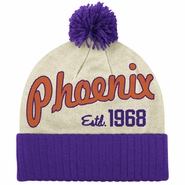 Phoenix Suns adidas Originals Established 1968 Cuffed Knit Beanie with Pom - White/Purple