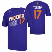 Phoenix Suns adidas P.J. Tucker #17 Game Time Name & Number Tee - Purple