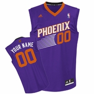 Phoenix Suns adidas Revolution Custom Player Replica Road Jersey - Purple<br><b><i>Choose a player or Personalize your jersey!</i></b>
