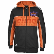 Phoenix Suns adidas 'The Chosen Few' 3-Stripe Full Zip Hoody - Black/Orange