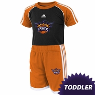 Phoenix Suns adidas Toddler Tee and Short Set - Black/Orange