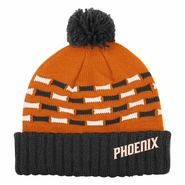 Phoenix Suns adidas Women's Cuffed Knit Beanie with Pom - Orange/Black
