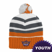 Phoenix Suns adidas Youth Cuffed Knit Beanie with Pom - Orange