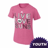 Phoenix Suns adidas Youth Girls Live Love Burnout Tee - Pink