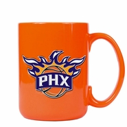 Phoenix Suns Metal Emblem Coffee Mug-Orange