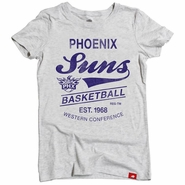 Phoenix Suns Sportiqe Women's Comfy Globe Tee - Heather Grey