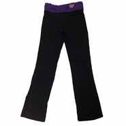 Phoenix Suns Womens Foldover Yoga Pants-Black