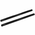 Barricade 4 in. Oval Straight Side Bar - Gloss Black (09-14 F-150) - Barricade T102834
