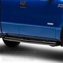 Barricade 4in Oval Curved Side Step Bar - Gloss Black (09-14 F-150) - Barricade T102828