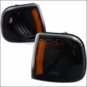 Black Corner Lights with Amber Reflector (97-03 All) - AT Lights 2LC-F15097JM-RS