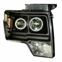 Black Halo Projector Headlights (09-11 F150) - AT Lights 02-AZ-FF09-PBC-LED-RF-A