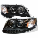 Black Projector Headlights (97-03 F150) - AT Lights 444-FF15097-1P-AM-BK