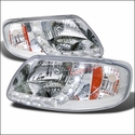 Chrome 1 Piece LED Euro Headlights (97-03 All) - AT Lights 2LH-F150971PC-RS