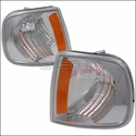Chrome Corner Lights with Amber Reflector (97-03 All) - AT Lights 2LC-F15097-RS