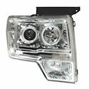 Chrome Halo Projector Headlights (09-11 F150) - AT Lights 02-AZ-FF09-PCC-LED-RF-A