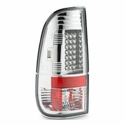 Chrome LED Tail Lights (97-03 F150) - AT Lights 111-FF15097-LED-C
