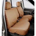 Covercraft Seat Saver - Tan (2004-2008 Standard Cab, SuperCab w/ 40/20/40 split-bench seat w/ folding console w/ adj. headrests w/ shoulder belt in seat back) - Covercraft SS3359PCTN