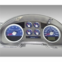 Daytona Edition Gauge Face Kit - Blue (04-08 FX4) - AT Interior FX4044||FX4074