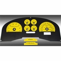 Daytona Edition Gauge Face Kit - Yellow (04-08 FX4) - AT Interior FX4043||FX4073