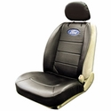 Ford Oval Logo Embroidered Sideless Seat Cover w/ Head Rest (97-14 All) - AT Interior 008584R01