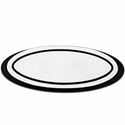 Grille Emblem Oval Step Style Polished With Black Boarder, 9 in. Length (04-14 All) - AT Exterior 50904
